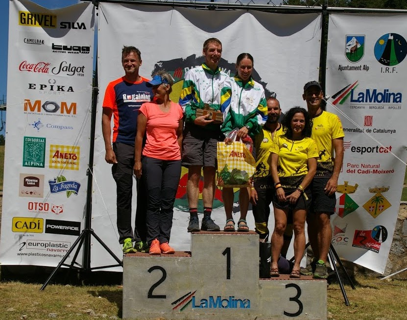 Mixed Veterans podium